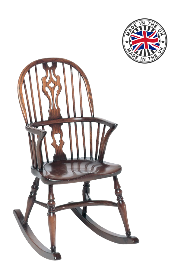 Childs Georgian Double Bow Rocking Chair – Windsor Rocking Chairs