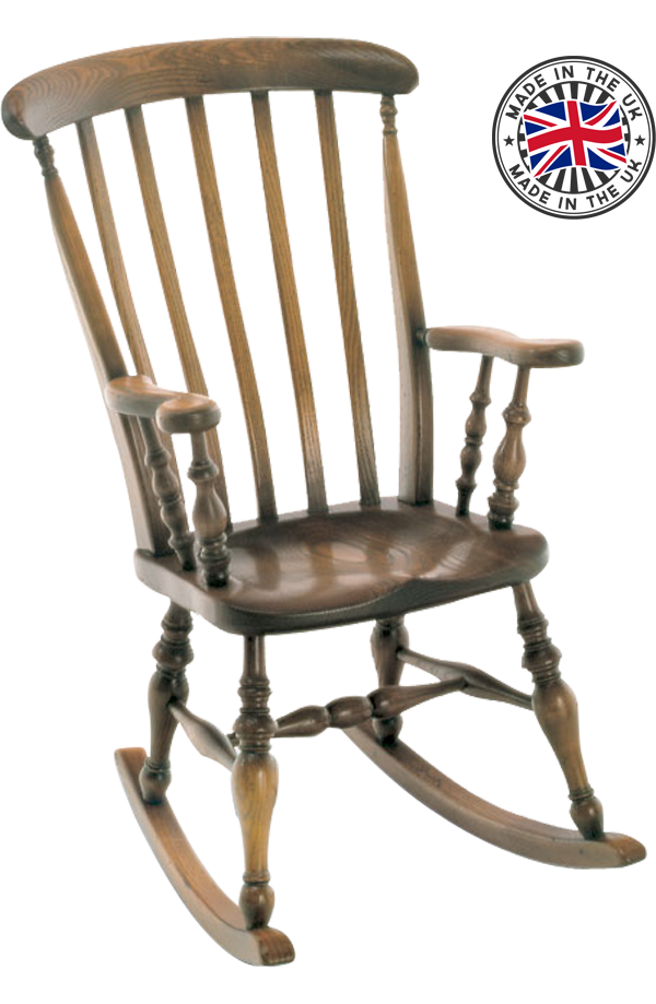 move over image to enlarge and use mouse wheel to zoom in and out - Farmhouse Rocking Chair