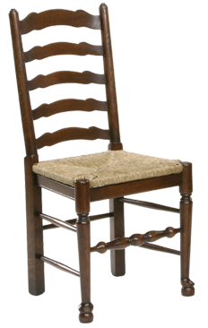 Antique Style Ladder Back Dining Chair