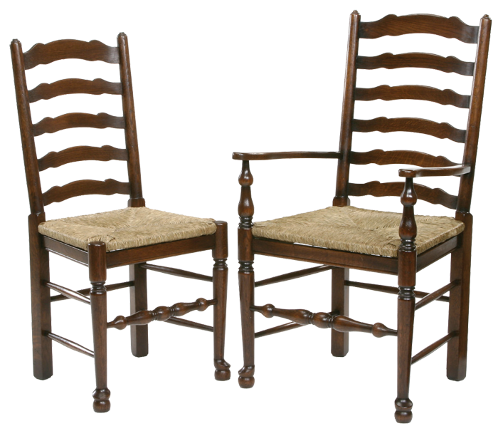 - Antique Style Ladder Back Dining Chair