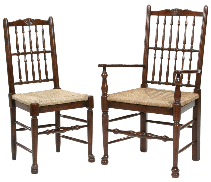 move over image to enlarge and use mouse wheel to zoom in and out. Antique  style spindle back dining chair - Spindle Back Dining Chair