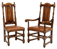 Panel Back Dining Chair