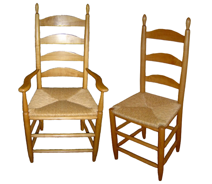 Rush Seat Chairs Shaker Style Frame Chair Ladder Back